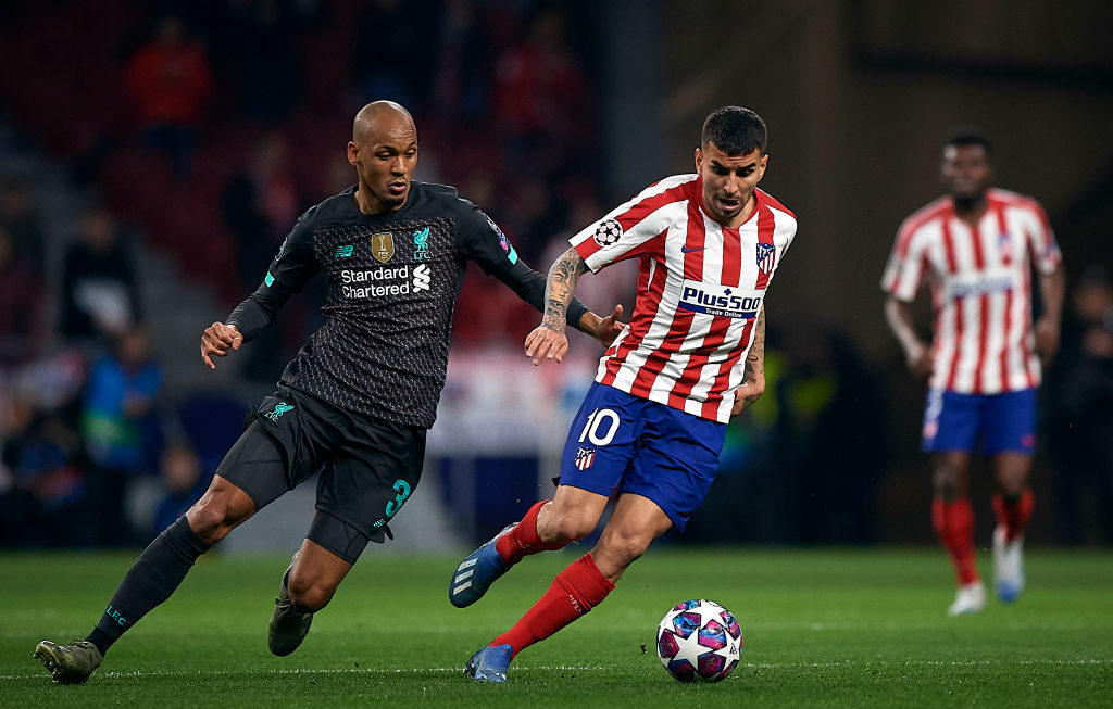 Fabinho is back in the starting XI after injury.