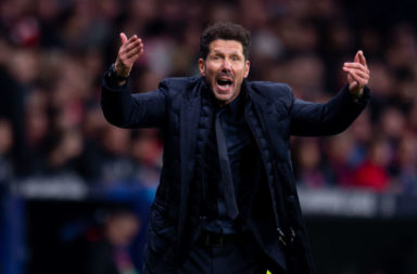 Diego Simeone and Atletico Madrid await Liverpool in midweek.