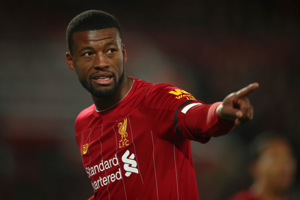 Gini Wijnaldum is coming to the end of his contract.