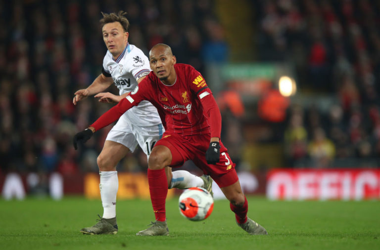 Fabinho continued his comeback against West Ham.