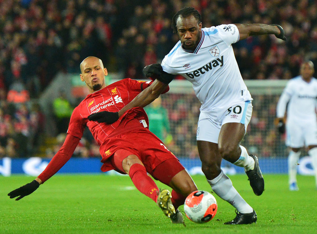 Fabinho played as Liverpool fought from behind against the Hammers.