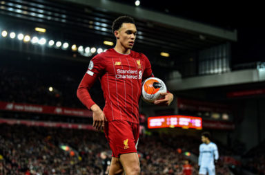 Trent Alexander-Arnold equalled his own Premier League record on Monday.