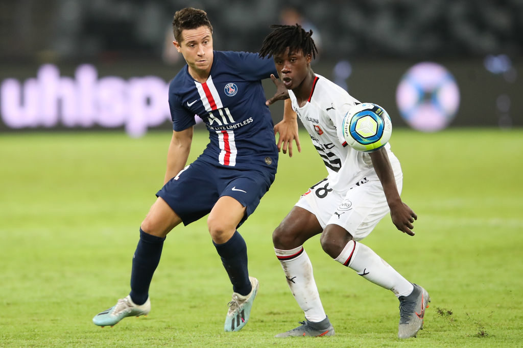 Eduardo Camavinga leads Ligue 1 in tackling.