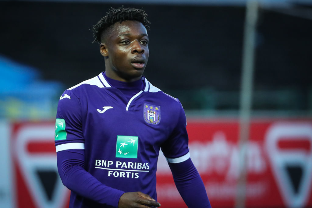 Jeremy Doku is playing his first senior season with Anderlecht.