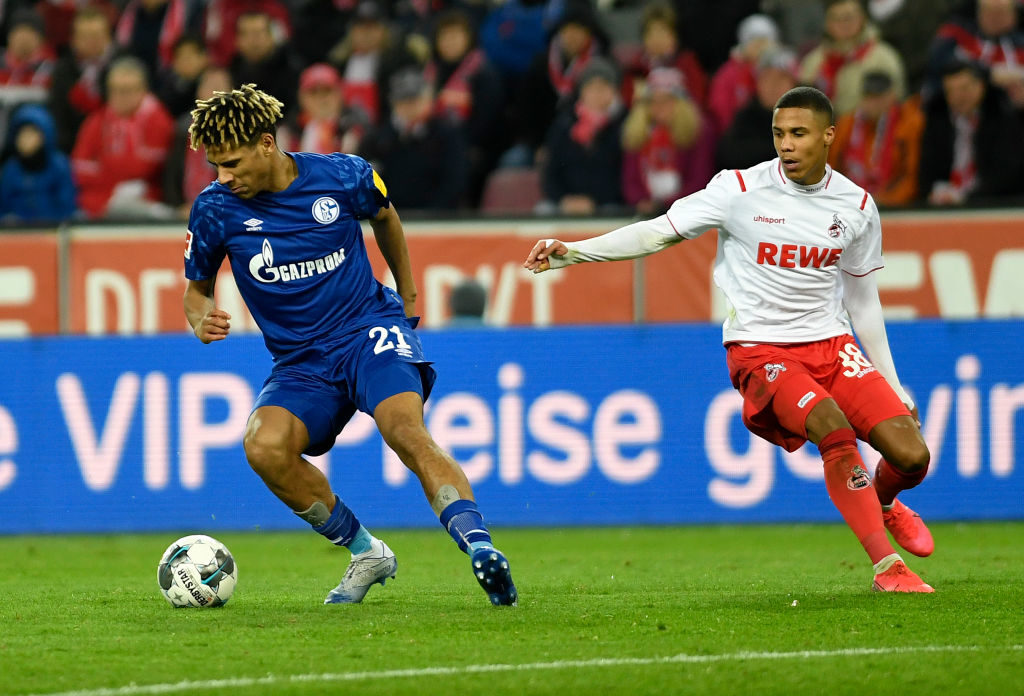 Jean-Clair Todibo playing for Schalke.