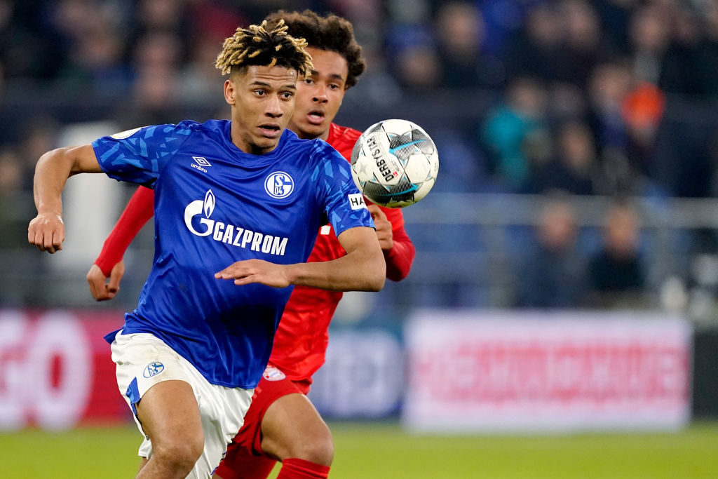 Jean-Clair Todibo in action for Schalke.