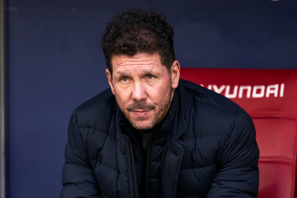 Diego Simeone will likely play 4-4-2 at Anfield.