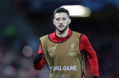 Adam Lallana may be fighting for his Liverpool career when football returns.