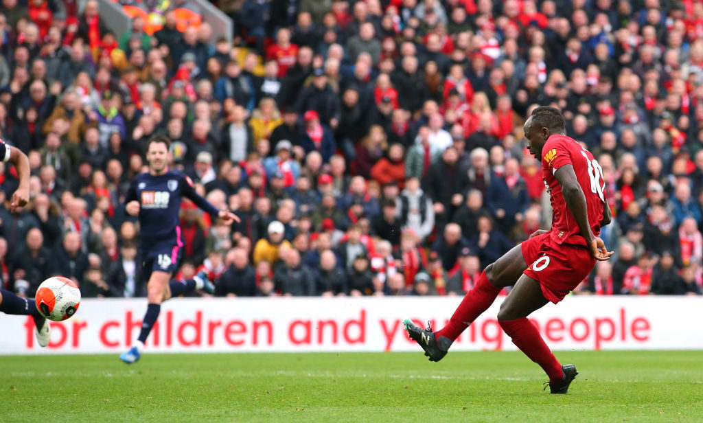 Sadio Mane scored Liverpools first against Bournemouth.