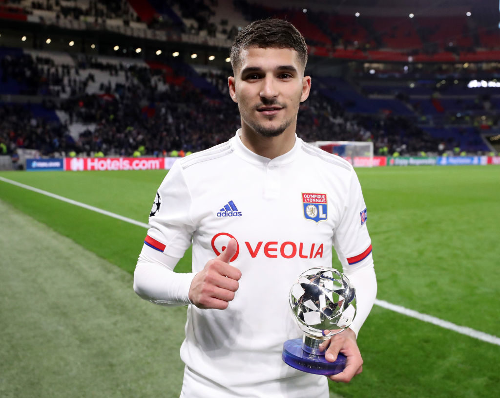 Houseem Aouar with his Man of the Match award v Juventus.