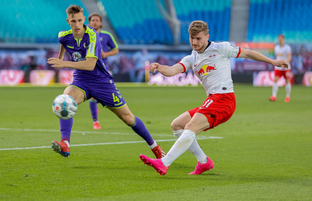 Timo Werner in action for RB Leipzig.