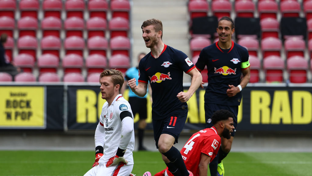Timo Werner scored a hat-trick against Mainz.
