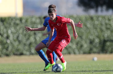 Burak Ince in action for Turkey U15s.