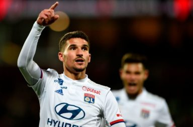 Houssem Aouar for Lyon.