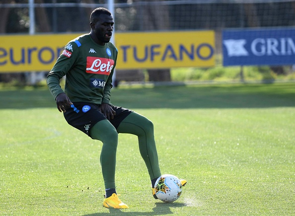 Kalidou Koulibaly in training.