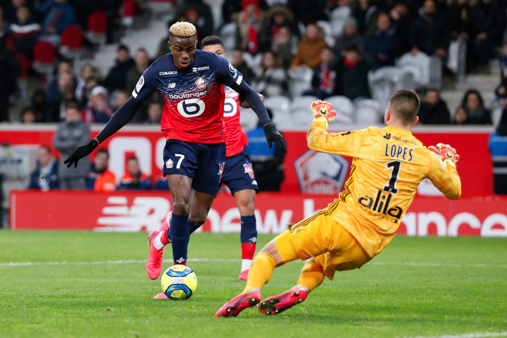 Victor Osimhen in action for Lille.