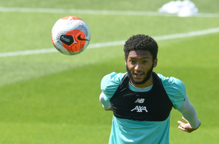 Joe Gomez in training.