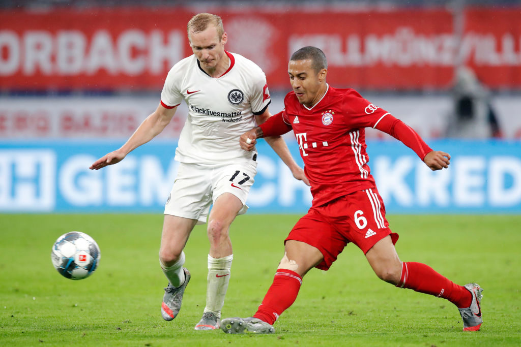 Thiago Alcantara in action for Bayern.