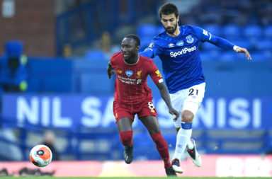Naby Keita started against Everton.