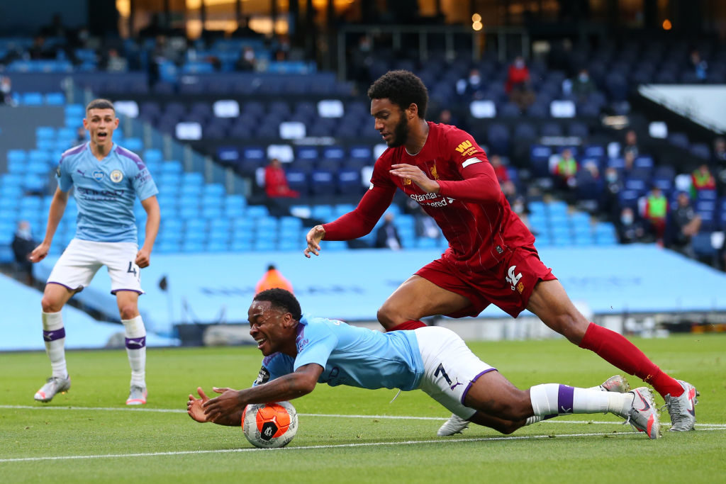 Joe Gomez struggled against Manchester City.