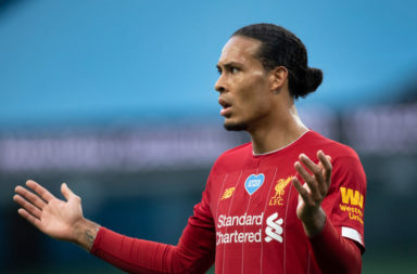Virgil van Dijk played okay against Manchester City.