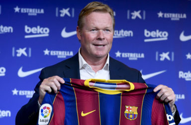 Barcelona FC presents Ronald Koeman as new head coach