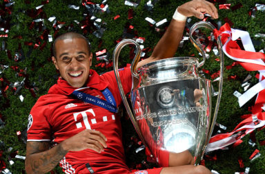 The Bayern Munich team have reacted to the Thiago farewell