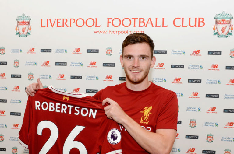 Liverpool Unveil New Signing Andrew Robertson