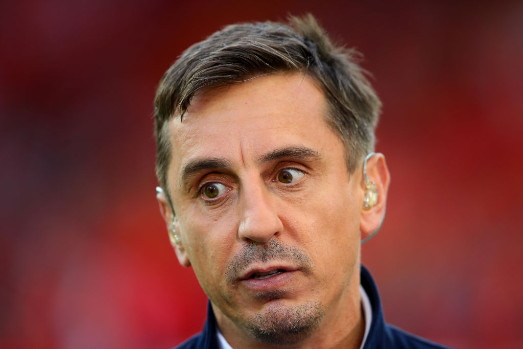"""Gary Neville has said that Manchester City """"look well behind"""" Liverpool."""