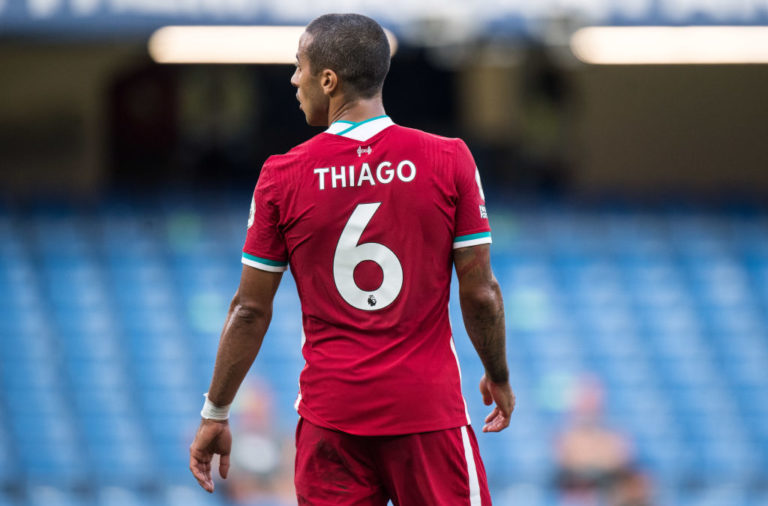 Twitter has reacted to the record breaking Thiago debut for Liverpool.