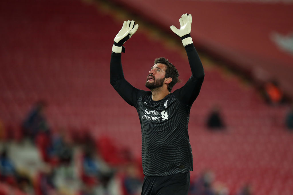 Alisson Becker has been compared to Cristiano Ronaldo by David James.