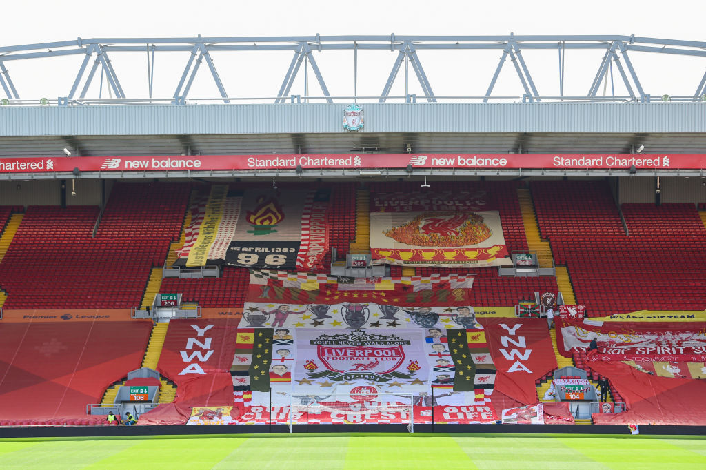 Liverpool Fans Put Up Banners Ahead of Behind Closed Doors Matches