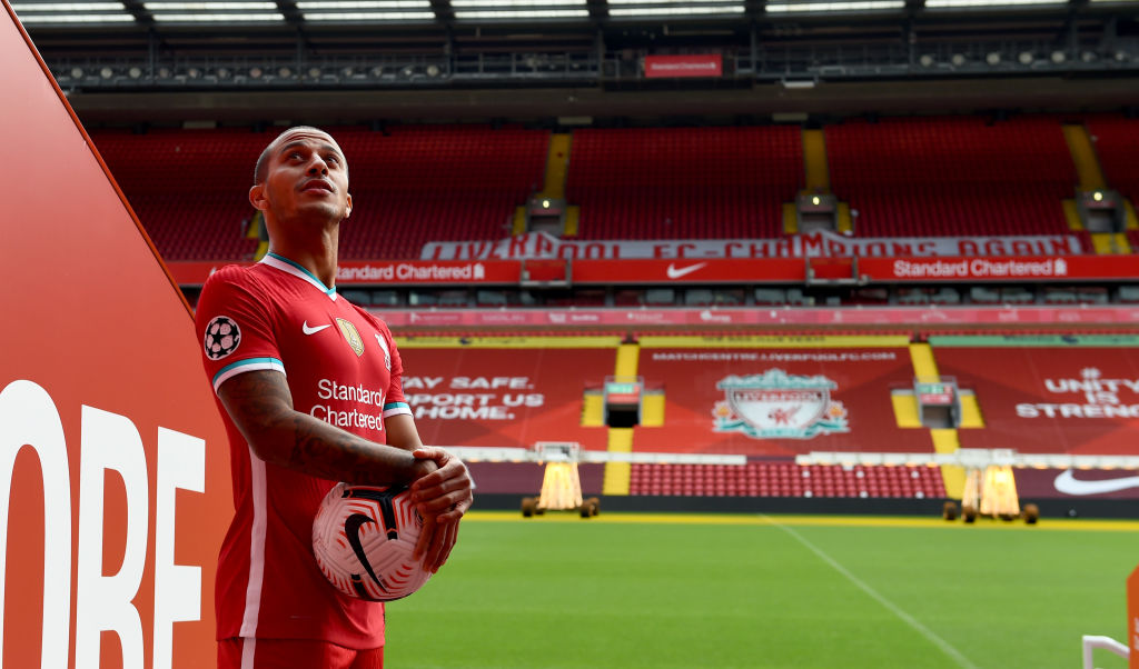 Thiago seems to already have his own song ready to be sung on the Kop.