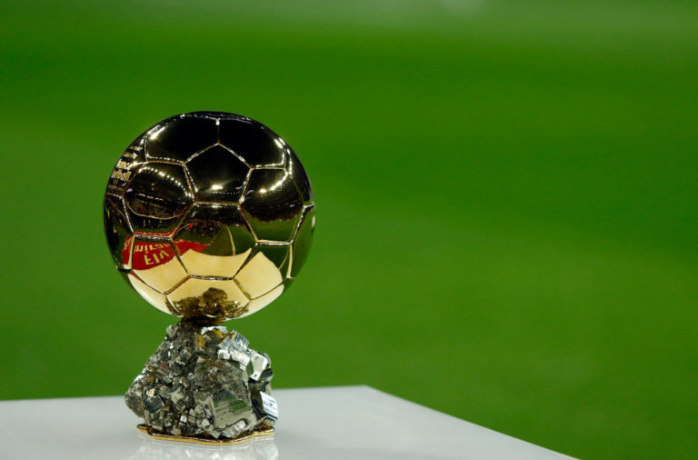 The Ballon D'or seen before the La Liga football match