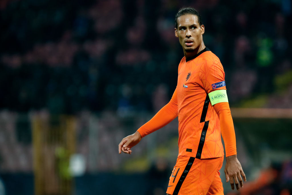 Frank de Boer played Virgil van Dijk at striker for the Netherlands