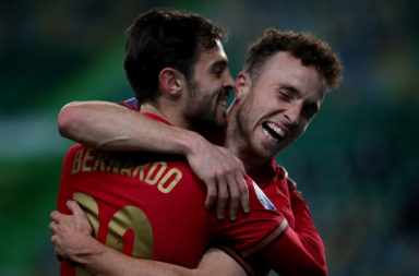Diogo Jota netted two goals and assisted one for Portugal against Sweden.