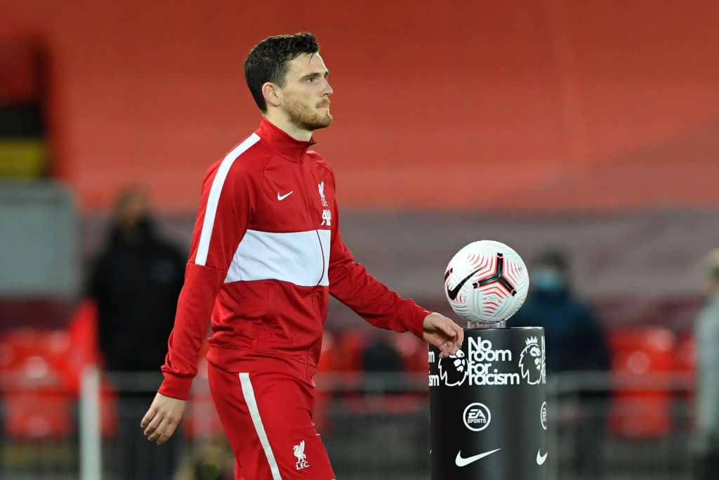 Andy Robertson has recorded 77 wins in his first 100 league games for Liverpool.