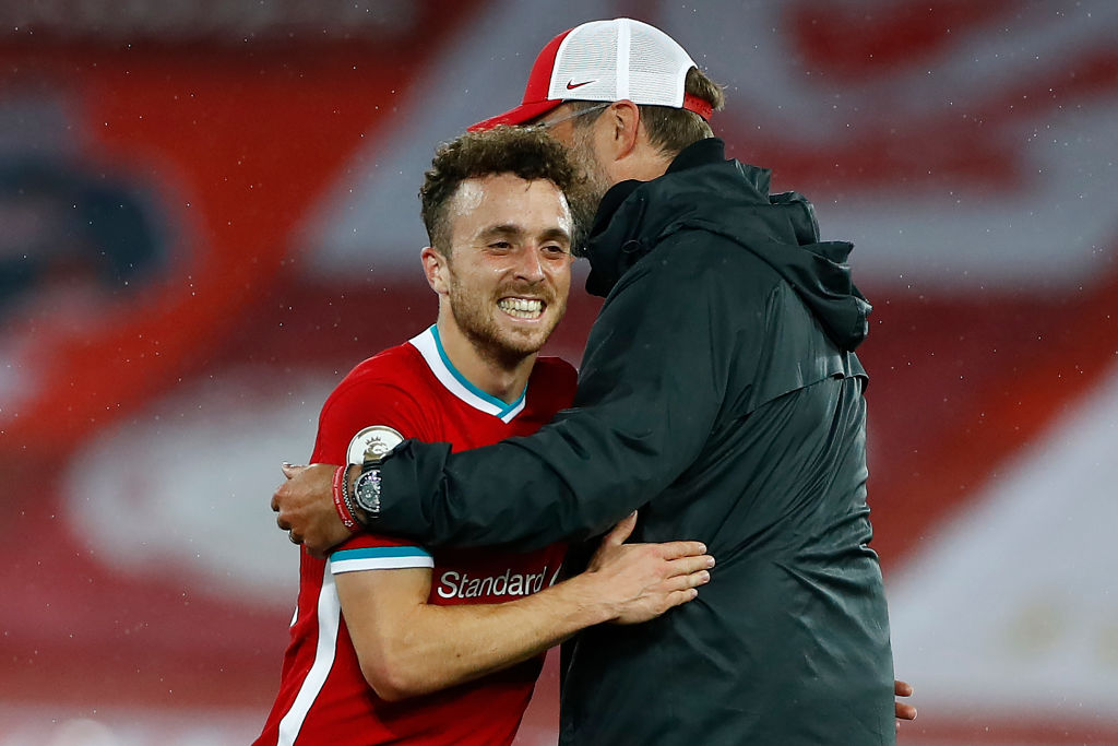 Diogo Jota has to start ahead of Roberto Firmino against Manchester City.