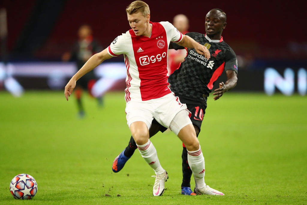Peter Schuurs for Ajax against Liverpool.