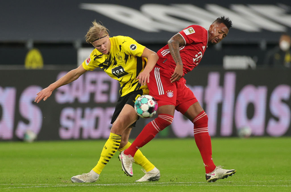 Erling Haaland and Jerome Boateng.