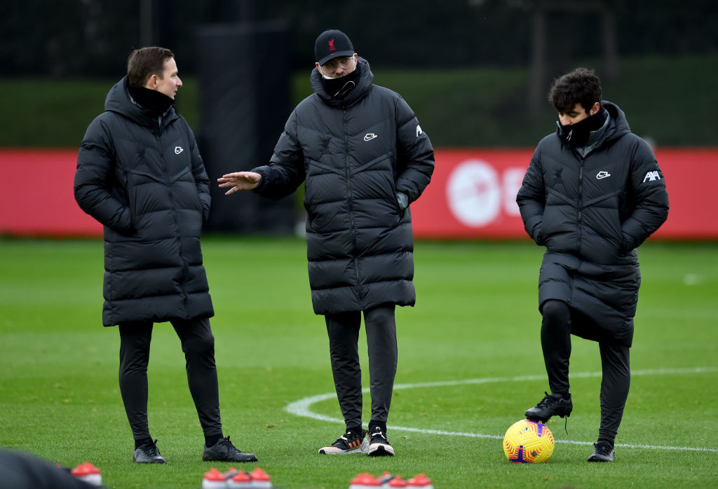 Liverpool Training Session - Liverpool are after Stefan Bajcetic.