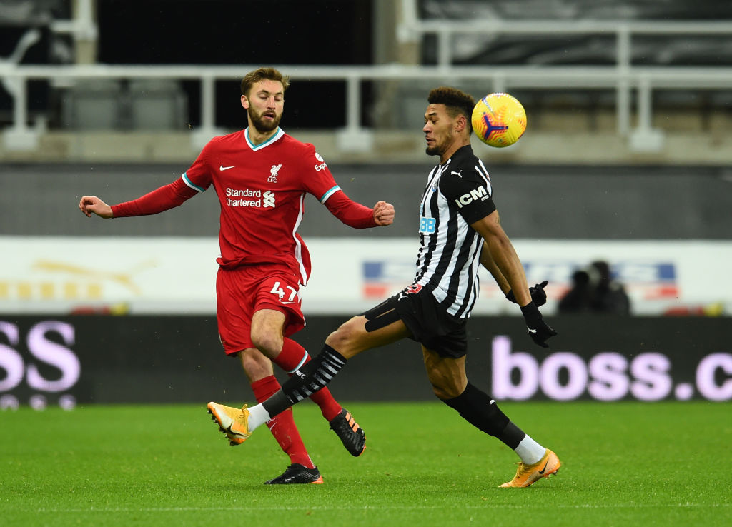 Newcastle United v Liverpool - Premier League - Nat Phillips could face Villa.