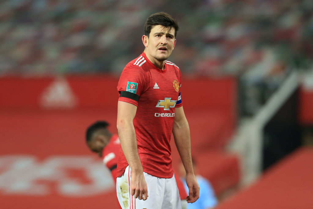 Manchester United v Manchester City - Carabao Cup Semi Final - Harry Maguire.