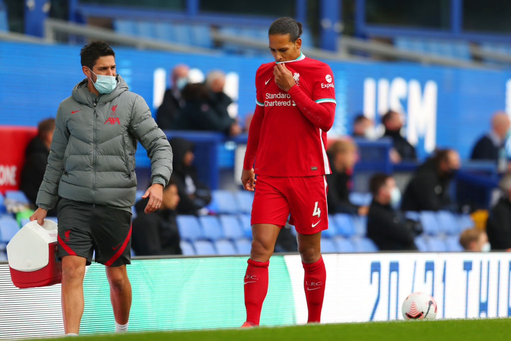 Liverpool fans have reacted to a Virgil van Dijk injury update