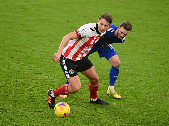 Sheffield United v Leicester City - Premier League - Sander Berge.