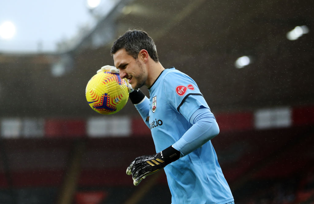 Alex McCarthy is unavailable for Southampton v Liverpool.