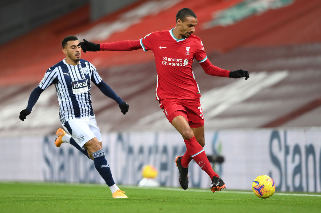 Liverpool v West Bromwich Albion - Premier League - Joel Matip needs to get fit to face Manchester United.