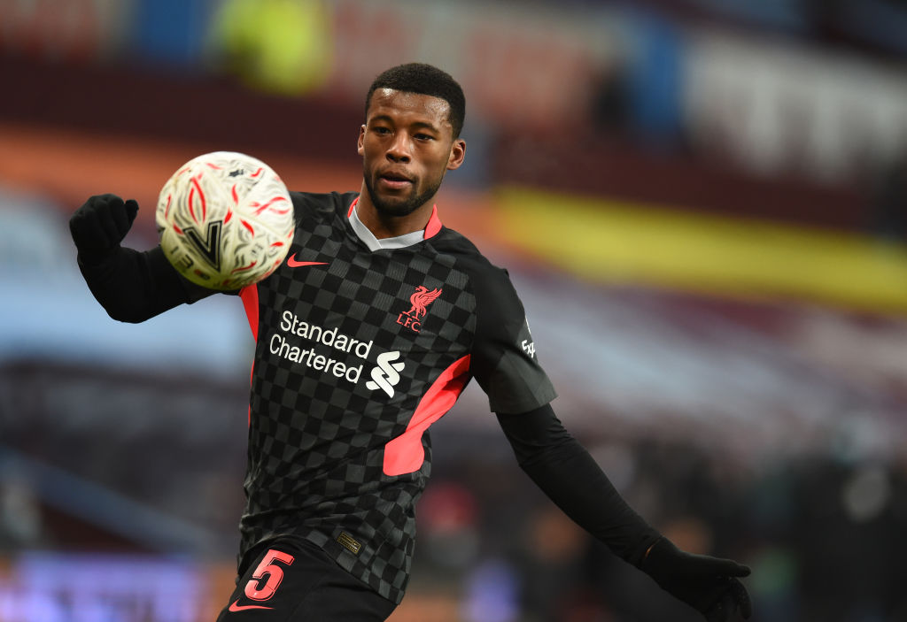 Gini Wijnaldum has said he wants to win the FA Cup this year