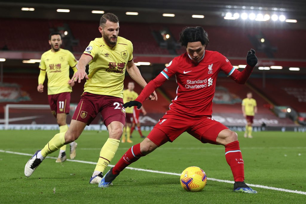 A tweet by Liverpool has hinted that Takumi Minamino will start up top v Man United.