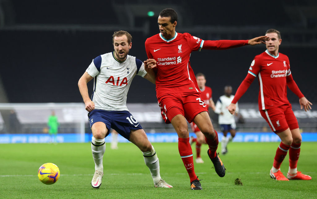 Tottenham Hotspur v Liverpool - Premier League - Joel Matip is out for the season with an injury.